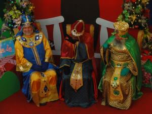 Los personajes de Reyes Magos y Papá Noel
